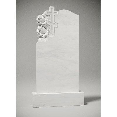 Резной памятник из белого мрамора № 204