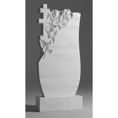 Резной памятник из белого мрамора № 206