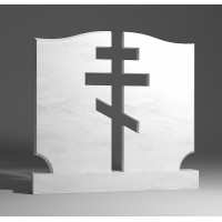 Двойной памятник из белого мрамора № 9