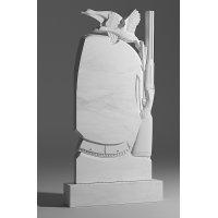 Резной памятник из белого мрамора № 24