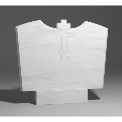 Резной памятник из белого мрамора № 220