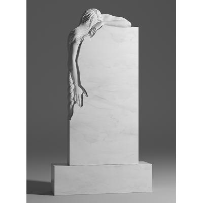 Резной памятник из белого мрамора № 229