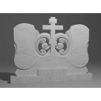 Двойной памятник из белого мрамора № 12