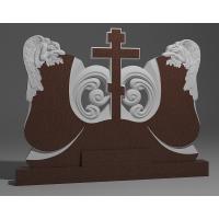 Двойной памятник из красного гранита № 13