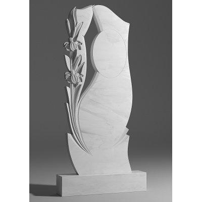 Резной памятник из белого мрамора № 29