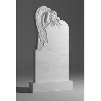 Резной памятник из белого мрамора № 3