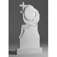 Резной памятник из белого мрамора № 55