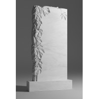 Резной памятник из белого мрамора № 5