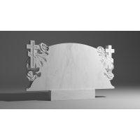 Двойной памятник из белого мрамора № 3