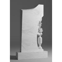 Резной памятник из белого мрамора № 6