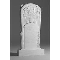 Резной памятник из белого мрамора № 7