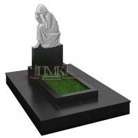 Памятник скорбящая сидящая