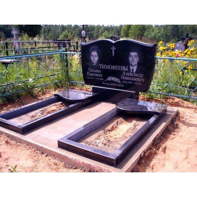 Плита надгробная N 12, для двух цветников