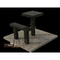 Столик/скамейка № 1