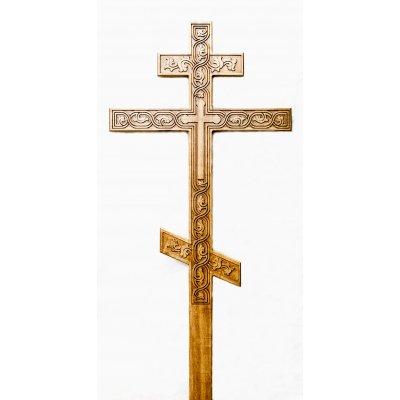 Крест из ясеня с плетеным орнаментом (модель 0.1)