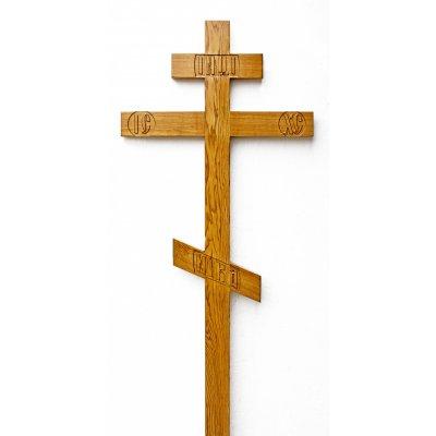 Крест из ясеня с аббревиатурой (арт. 0.4)