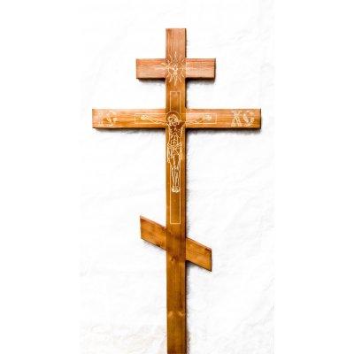 Крест намогильный из сосны с распятием (арт. 9.1)