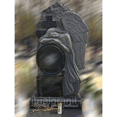 Памятник из гранита ангел с крестом