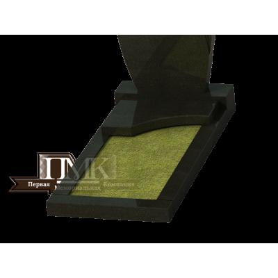 Плита надгробная N 11, с местом для вазы