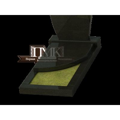 Плита надгробная N 9, со волной